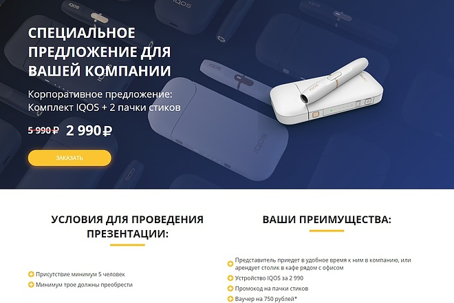 Сайт под ключ. Landing Page. Backend 174 - kwork.ru