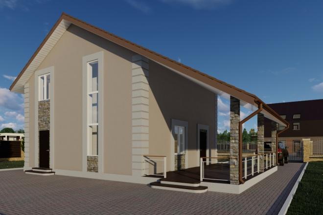 Фотореалистичная 3D визуализация экстерьера Вашего дома 128 - kwork.ru