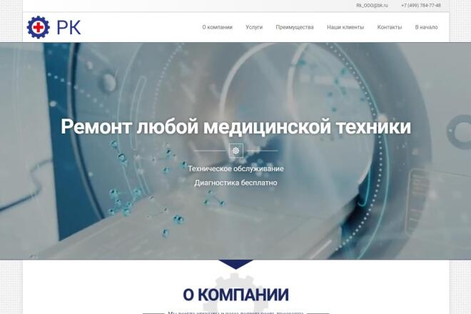 Лендинг для любых целей на Wordpress 1 - kwork.ru