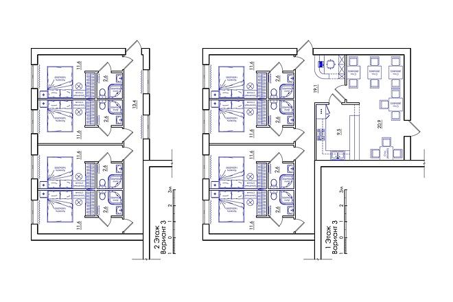 Планировка квартиры или жилого дома, перепланировка и визуализация 26 - kwork.ru