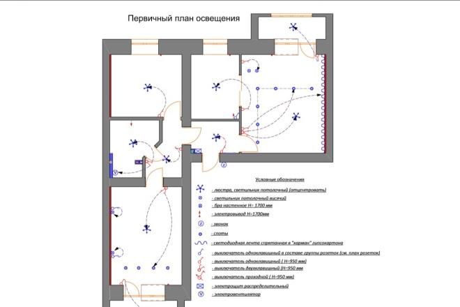 Планировочные решения. Планировка с мебелью и перепланировка 38 - kwork.ru