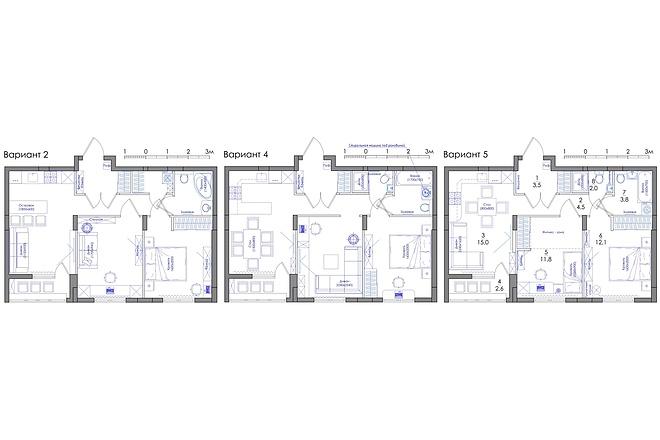Планировка квартиры или жилого дома, перепланировка и визуализация 39 - kwork.ru