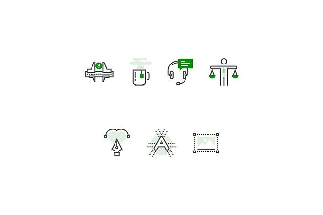 Создам 5 иконок в любом стиле, для лендинга, сайта или приложения 36 - kwork.ru