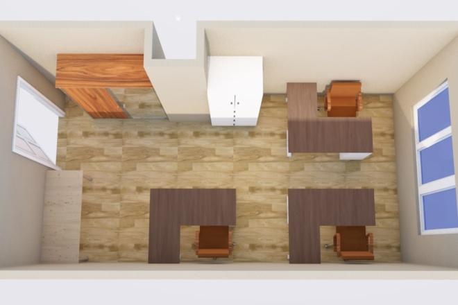 Создам планировку дома, квартиры с мебелью 39 - kwork.ru