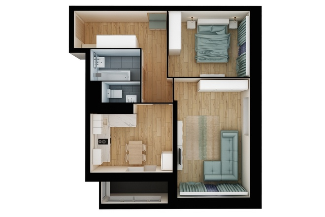 3Д план квартиры или дома 5 - kwork.ru