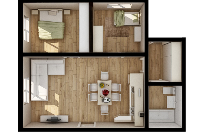 3Д план квартиры или дома 4 - kwork.ru