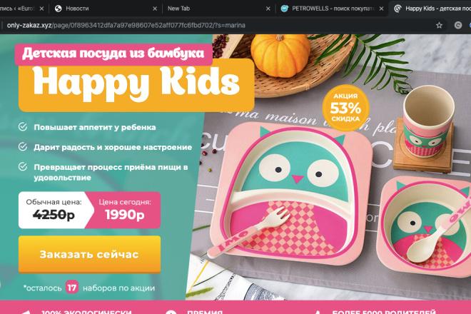 Скопирую Landing page, одностраничный сайт и установлю редактор 56 - kwork.ru