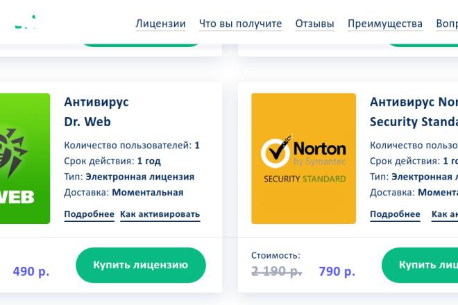 Скопирую страницу любой landing page с установкой панели управления 16 - kwork.ru