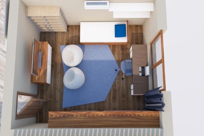 Создам планировку дома, квартиры с мебелью 1 - kwork.ru