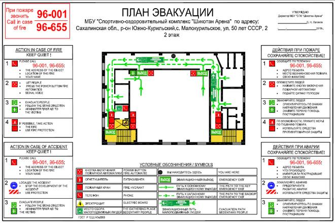 План эвакуации 6 - kwork.ru
