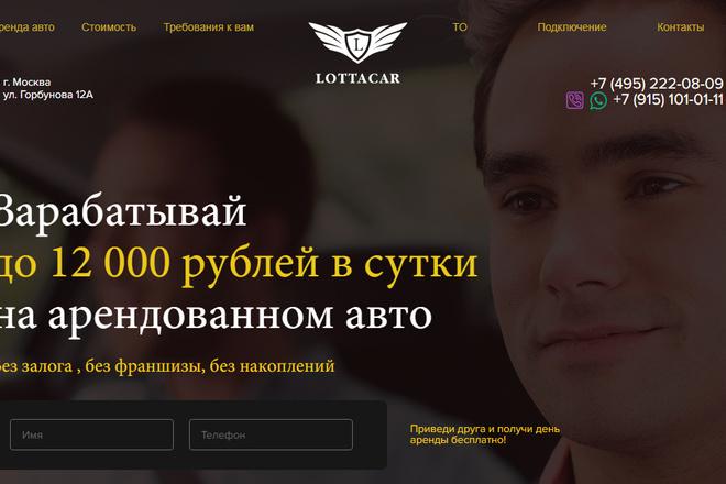 Качественная копия лендинга с установкой панели редактора 53 - kwork.ru