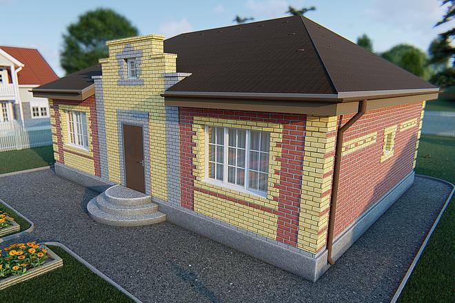 Фотореалистичная 3D визуализация экстерьера Вашего дома 173 - kwork.ru
