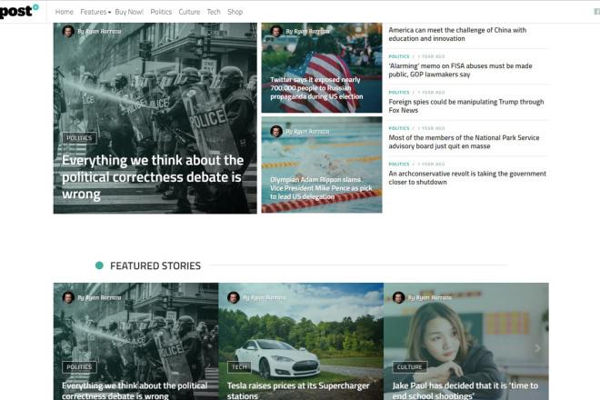 StuffPost - Премиум шаблон ВордПресс новостного портала, газеты, СМИ 4 - kwork.ru