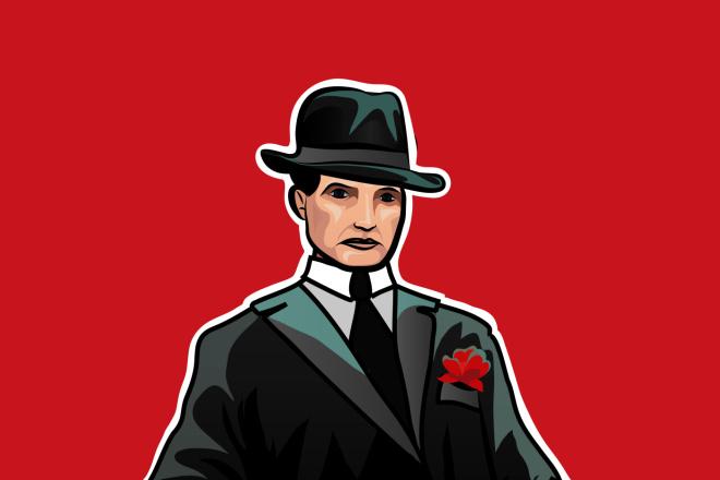 Нарисую исторического персонажа в векторе 1 - kwork.ru