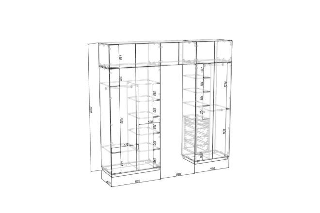 Проект корпусной мебели, кухни. Визуализация мебели 37 - kwork.ru