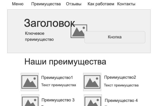 Создам структуру, прототип продающего лендинга, одностраничника 2 - kwork.ru