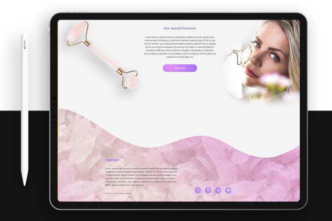 Дизайн блока Landing page 20 - kwork.ru