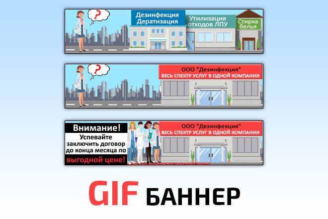 Сделаю 2 качественных gif баннера 9 - kwork.ru