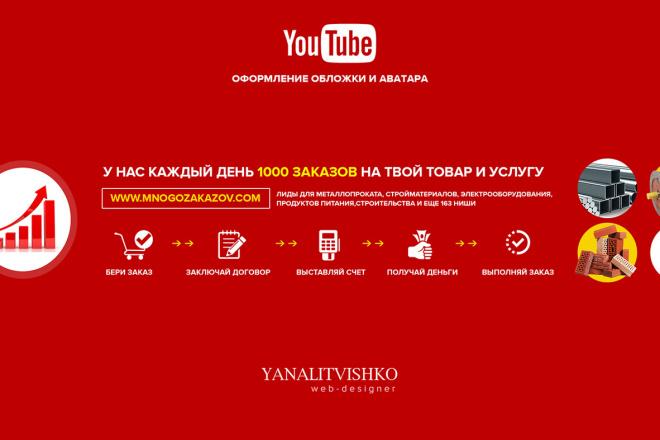 Оформлю красиво обложку для Вашего канала на YouTube 28 - kwork.ru