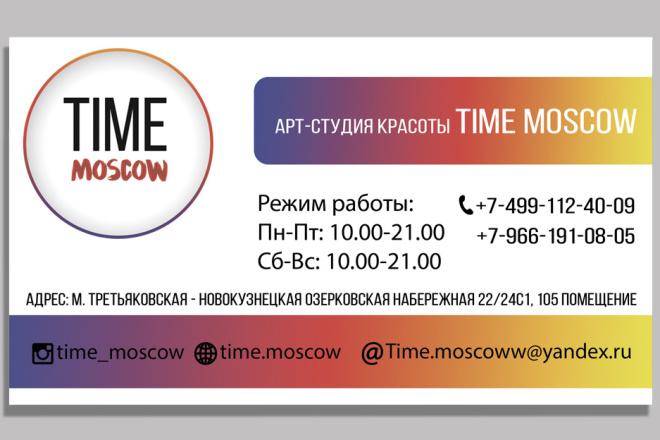 Дизайн двусторонней визитки 11 - kwork.ru