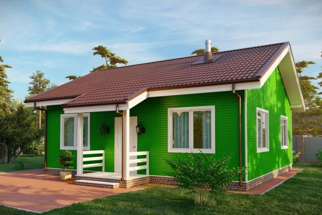 3д моделирование и визуализация экстерьеров домов 8 - kwork.ru
