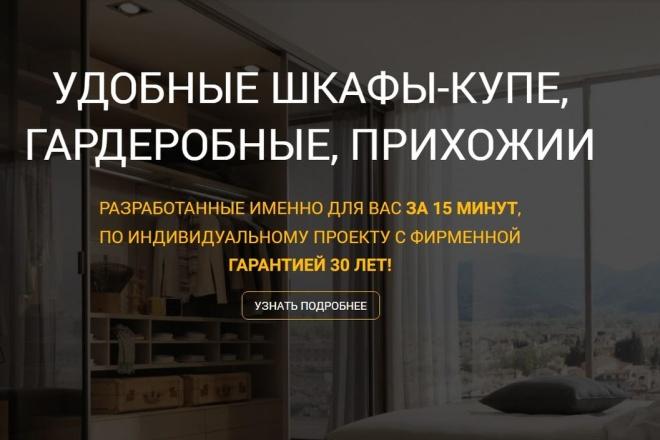 Скопировать Landing page, одностраничный сайт, посадочную страницу 100 - kwork.ru