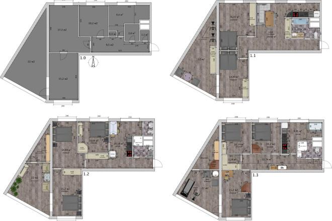 Интересные планировки квартир 21 - kwork.ru