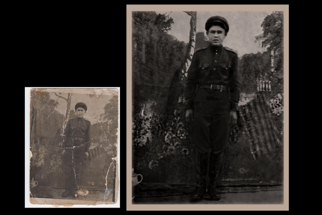 Реставрация старых фото 2 - kwork.ru