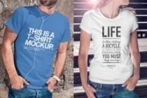 Продам коллекцию шаблонов Photoshop для визуализации дизайна футболок 23 - kwork.ru