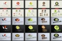 Огромный набор редактируемых шаблонов для логотипов 10 - kwork.ru