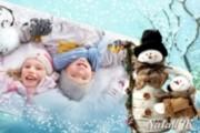 Слайд-шоу для зимних детских фотографий Скоро Новый год придёт 3 - kwork.ru