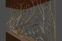 Сделаю 3d модель кованных лестниц, оград, перил, решеток, навесов 54 - kwork.ru