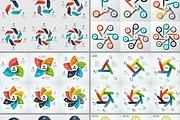 Набор инфографики. 13 тематик, 800 шаблонов, 2 пакета иконок 89 - kwork.ru