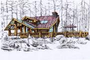 Сделаю ручную визуализацию, эскиз дома 32 - kwork.ru