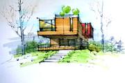Сделаю ручную визуализацию, эскиз дома 33 - kwork.ru