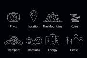 Нарисую векторные иконки для сайта, соц. сетей, приложения 35 - kwork.ru