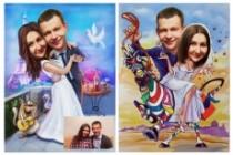 Шарж по фото 78 - kwork.ru