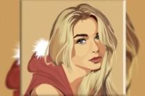 Векторный портрет 30 - kwork.ru
