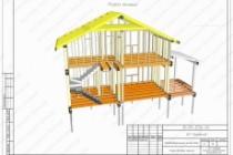 Сделаю 3D проект каркасного дома 5 - kwork.ru