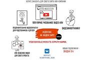 Создание Дудл-видео рисованного мультяшного ролика 9 - kwork.ru