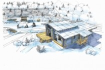 Выполню концепцию ландшафта загородного участка в стиле архскетчинга 11 - kwork.ru