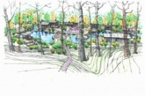 Выполню концепцию ландшафта загородного участка в стиле архскетчинга 13 - kwork.ru