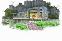 Выполню концепцию ландшафта загородного участка в стиле архскетчинга 14 - kwork.ru
