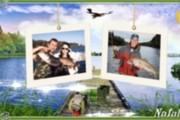 Оригинальное слайд-шоу для летних фотографий На рыбалке 3 - kwork.ru