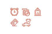Иконки для сайта, 5 штук в комплекте 6 - kwork.ru