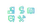 Иконки для сайта, 5 штук в комплекте 7 - kwork.ru