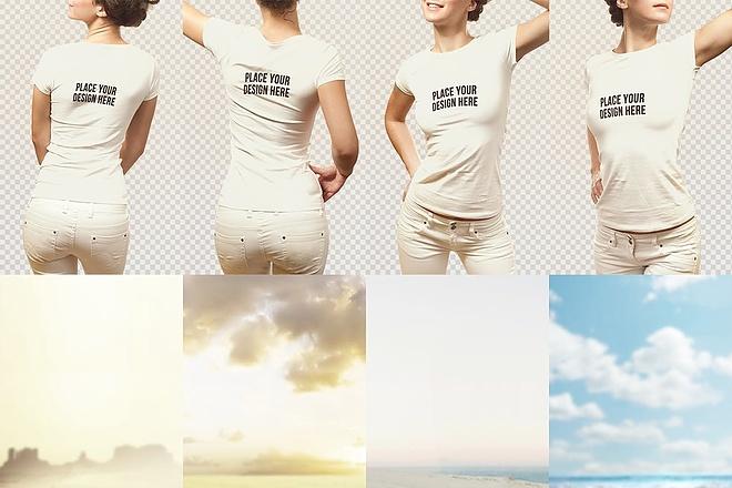 Продам коллекцию шаблонов Photoshop для визуализации дизайна футболок 13 - kwork.ru