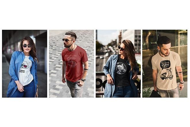 Продам коллекцию шаблонов Photoshop для визуализации дизайна футболок 18 - kwork.ru