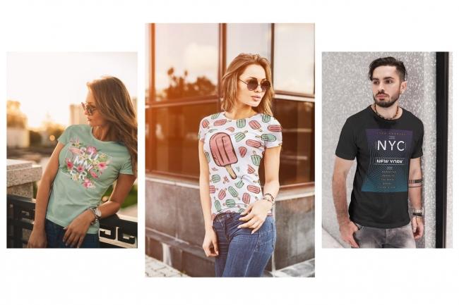Продам коллекцию шаблонов Photoshop для визуализации дизайна футболок 5 - kwork.ru