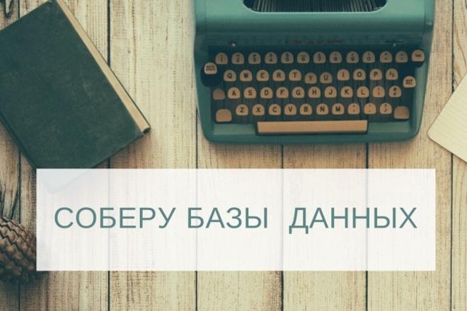 Соберу базу компаний 1 - kwork.ru